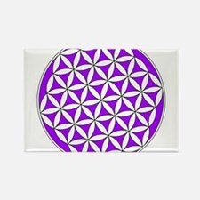 Flower of Life Purple Rectangle Magnet