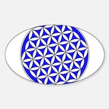 Flower of Life Blue Decal
