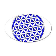 Flower of Life Blue Wall Sticker