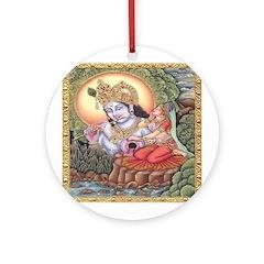 Vision of Krishna Ornament (Round)