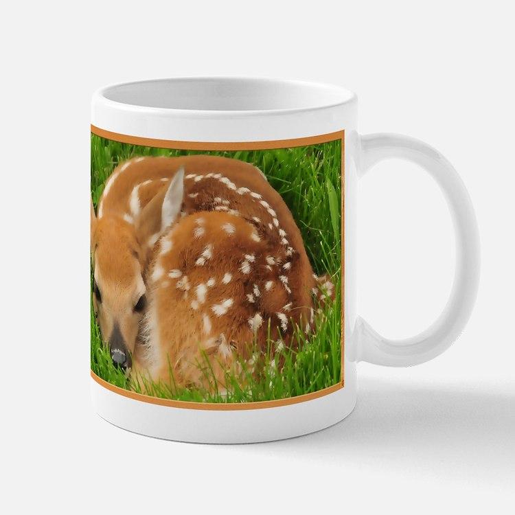 Resting Fawn Deer Mugs