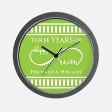 Personalized Anniversary Infinite Lime Wall Clock