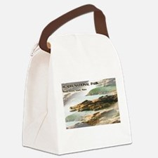 Acadia National Park Coastline Canvas Lunch Bag