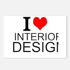 I Love Interior Design Postcards (Package of 8)
