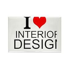 I Love Interior Design Magnets