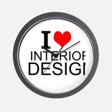 I Love Interior Design Wall Clock
