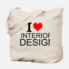 I Love Interior Design Tote Bag