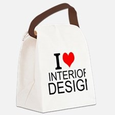 I Love Interior Design Canvas Lunch Bag