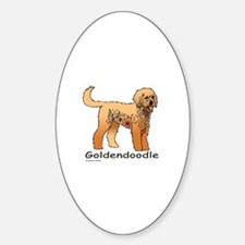 Tangle Goldendoodle Sticker (Oval)
