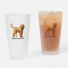 Tangle Goldendoodle Drinking Glass