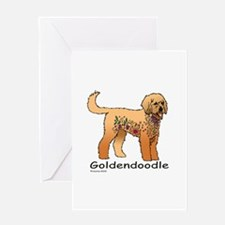 Tangle Goldendoodle Greeting Card