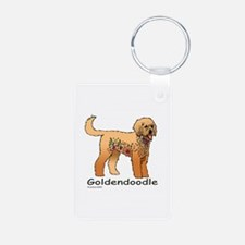Tangle Goldendoodle Aluminum Photo Keychain