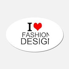 I Love Fashion Design Wall Decal