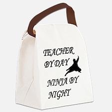 Ninja teacher Canvas Lunch Bag