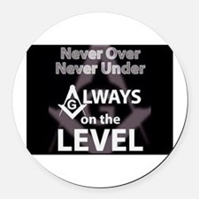 On The Level Round Car Magnet