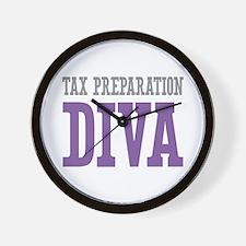 Tax Preparation DIVA Wall Clock