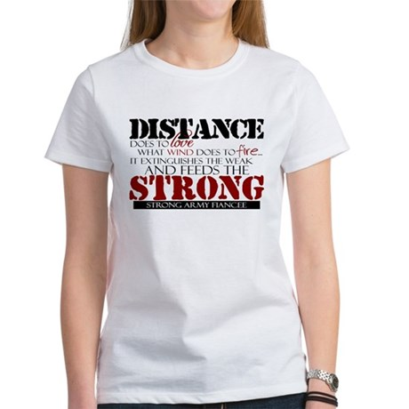 Feeds the strong: Army Fiance Women's T-Shirt