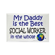 Best Social Worker In The World (Daddy) Rectangle