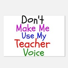 Dont Make Me Use My Teacher Voice Postcards (Packa
