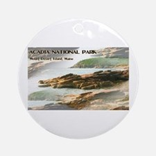 Acadia National Park Coastline Round Ornament