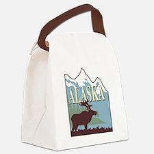 Cool Alaska moose Canvas Lunch Bag