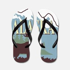 Cute Mountain Flip Flops