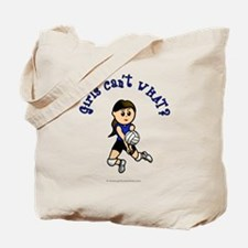 Light Blue Volleyball Tote Bag