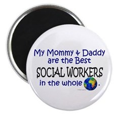 "Best Social Workers In The World 2.25"" Magnet (10"