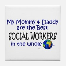 Best Social Workers In The World Tile Coaster
