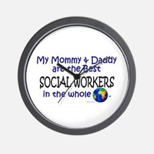 Best Social Workers In The World Wall Clock