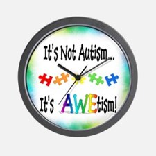 AWEsome AWEtism Wall Clock