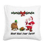 Funny Thanksgiving Square Canvas Pillow