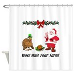 Funny Thanksgiving Shower Curtain