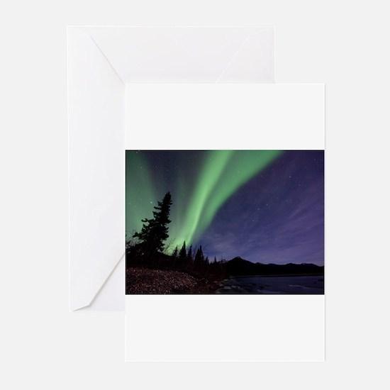 Aurora borealis Greeting Cards