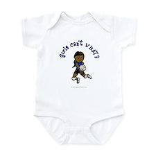 Dark Blue Volleyball Infant Bodysuit
