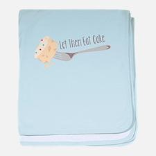 Let Them Eat Cake baby blanket