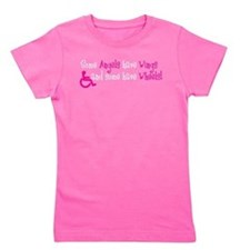 Cute Disabilities Girl's Tee