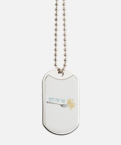 Here for the Cake Dog Tags