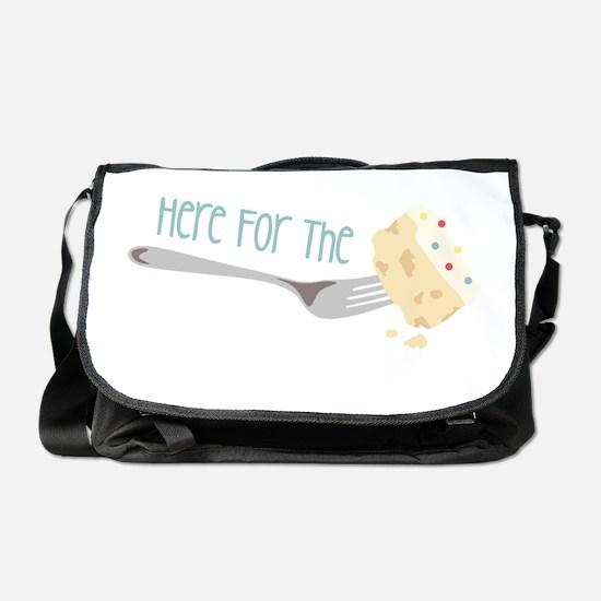 Here for the Cake Messenger Bag