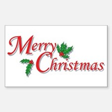 Merry Christmas Rectangle Decal