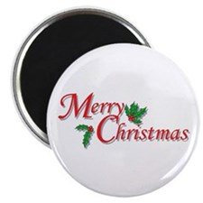 "Merry Christmas 2.25"" Magnet (10 pack)"