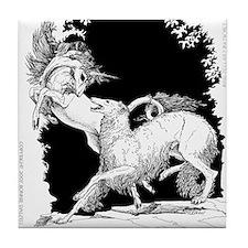 Borzoi and Unicorn<br> Tile Coaster