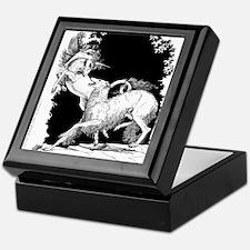 Borzoi and Unicorn<br> Keepsake Box