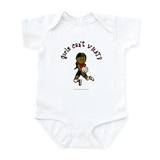 Dark Red Volleyball Infant Bodysuit