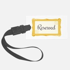 Reserved Sign Wedding Luggage Tag