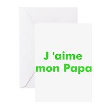 J 'aime mon Papa Greeting Cards (Pk of 10)