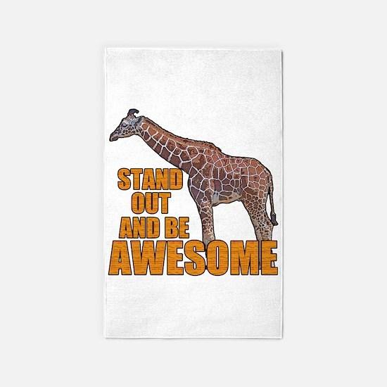 Stand Tall Giraffe Area Rug
