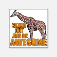 "Stand Tall Giraffe Square Sticker 3"" x 3"""