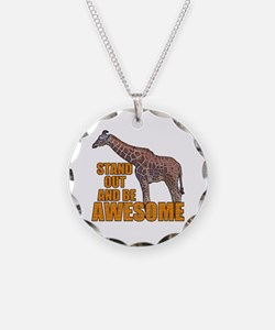 Stand Tall Giraffe Necklace Circle Charm