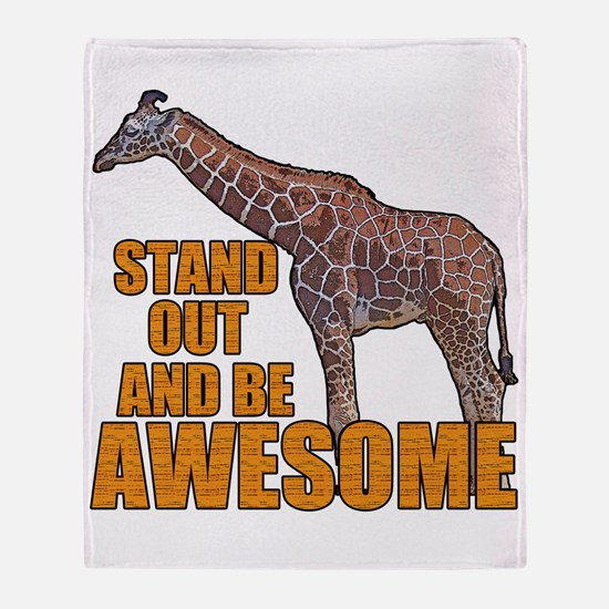 Stand Tall Giraffe Throw Blanket